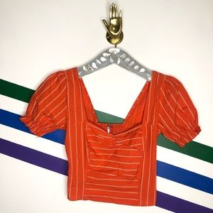 NEW Free People striped crop top